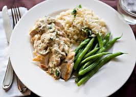 Chicken in a Rich Mushroom Sauce